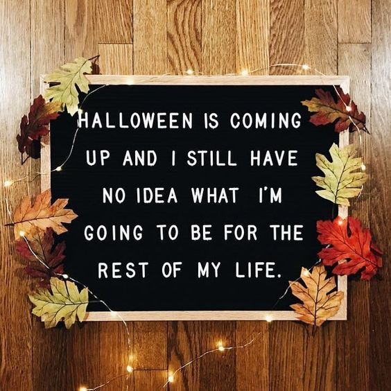Halloween Fall Letter Board Quotes